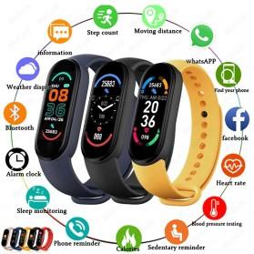 UOJSJK Smartwatch Sport Fitness Bracelet Activity Tracker Android iOS - M6 - Black - 2