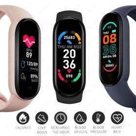 UOJSJK Smartwatch Sport Fitness Bracelet Activity Tracker Android iOS - M6 - Black - 3