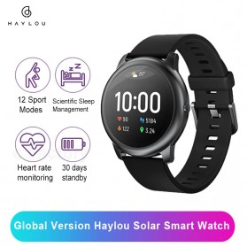 Haylou Solar Jam Tangan Digital Smartwatch Heartrate IP68 Waterproof - LS05 - Black