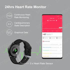 Haylou Solar Jam Tangan Digital Smartwatch Heartrate IP68 Waterproof - LS05 - Black - 4