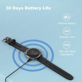 Haylou Solar Jam Tangan Digital Smartwatch Heartrate IP68 Waterproof - LS05 - Black - 5