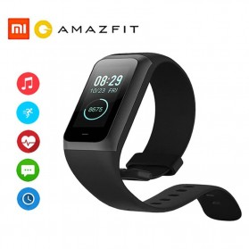Gadget Media Player, Tablet , Smartphone, Power Bank, Laser Presenter - Xiaomi Huami Amazfit Band Cor 2 Sport Smartwatch Heart Rate Monitor Waterproof - Black