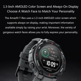 Xiaomi Amazfit T-REX Sport Smartwatch GPS Heart Rate Bluetooth 5.0 - A1919 - Black - 2