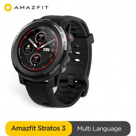 Smartwatch / Apple Watch - Xiaomi Amazfit Stratos 3 Sport Smartwatch Bluetooth 5.0 - A1929 - Black