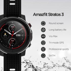Xiaomi Amazfit Stratos 3 Sport Smartwatch Bluetooth 5.0 - A1929 - Black - 3