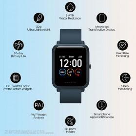 Xiaomi Amazfit Bip S Lite Sport Smartwatch Heart Rate Bluetooth 5.0 - A1823 - Blue - 2