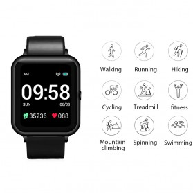 Lenovo S2 Smartwatch Sport Tracker Heart Rate Monitor Android iOS - Black - 2