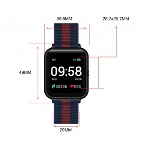 Lenovo S2 Smartwatch Sport Tracker Heart Rate Monitor Android iOS - Black - 3