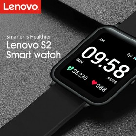 Lenovo S2 Smartwatch Sport Tracker Heart Rate Monitor Android iOS - Black - 5