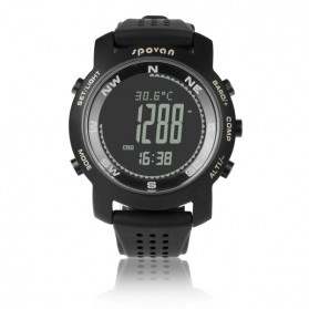 Spovan Bravo Plus Sport Watch for Outdoor Traveling - Black