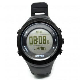 Spovan GL006G Jam Tangan Olahraga Lari Smartwatch GPS Heartrate - Black