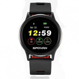 Spovan Smartwatch Fitness Tracker Android iOS - Venus - SW001 - Black