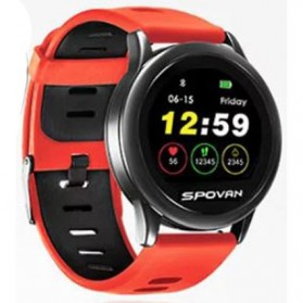 Spovan Smartwatch Fitness Tracker Android iOS - Venus - SW001 - Red