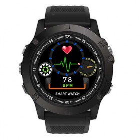 Spovan Mars Fitness Sport Smartwatch with Heartrate Sensor - Black