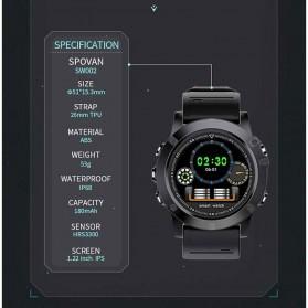 Spovan Mars Fitness Sport Smartwatch with Heartrate Sensor - Black - 6