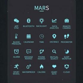 Spovan Mars Fitness Sport Smartwatch with Heartrate Sensor - Black - 7