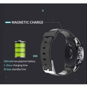 Spovan Mars Fitness Sport Smartwatch with Heartrate Sensor - Black - 8