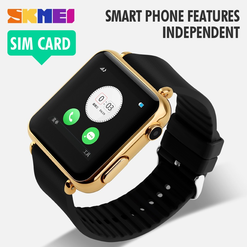 SKMEI Smart LED Bluetooth Smartwatch for iOS and Android - 1152SM - Black .