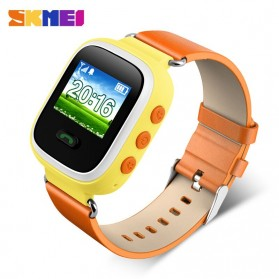 SKMEI Kids Monitoring Smartwatch LCD Screen with GPS + SOS Function - 1166 - Orange