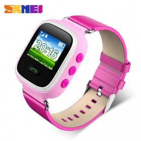 SKMEI Kids Monitoring Smartwatch LCD Screen with GPS + SOS Function - 1166 - Pink