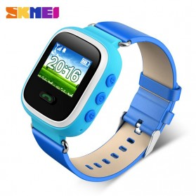 SKMEI Kids Monitoring Smartwatch LCD Screen with GPS + SOS Function - 1166 - Blue
