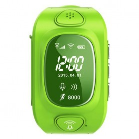 SKMEI Kids Monitoring Smartwatch LCD Screen with GPS + SOS Function - 1165 - Green