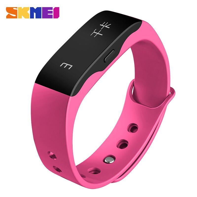 ... SKMEI Jam Tangan OLED Gelang Smartwatch Fitness Notification - L28T - Pink - 1 ...