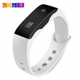 SKMEI Jam Tangan OLED Gelang Smartwatch Fitness Notification - L28T - White