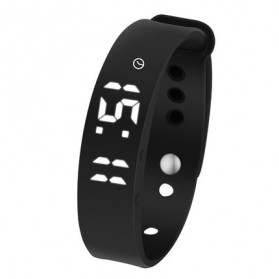 SKMEI Jam Tangan LED Gelang Fitness Tracker - W05 - Black - 2
