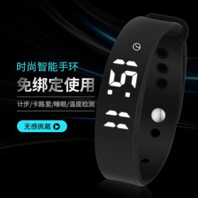 SKMEI Jam Tangan LED Gelang Fitness Tracker - W05 - Black - 4