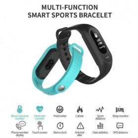 SKMEI Jam Tangan LED Gelang Fitness Tracker - B15P - Black - 2