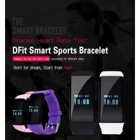 SKMEI DFit Smartwatch Wristband LED - D21 - Purple - 3