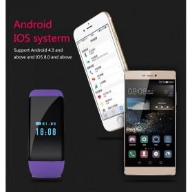 SKMEI DFit Smartwatch Wristband LED - D21 - Purple - 5