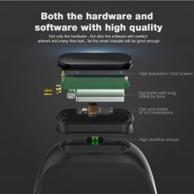 SKMEI Jam Tangan LED Gelang Fitness Tracker - B15S-D - Black - 4