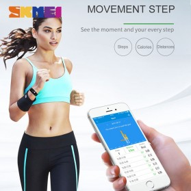 SKMEI Jam Tangan LED Gelang Fitness Tracker Heartrate Monitor - B19 - Black - 5