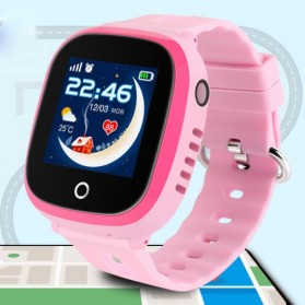 Gadget Media Player, Tablet , Smartphone, Power Bank, Laser Presenter - SKMEI Kids Monitoring Smartwatch LCD Screen with GPS + SOS Function - DF31G - Pink