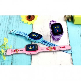 SKMEI Kids Monitoring Smartwatch LCD Screen with GPS + SOS Function - DF31G - Pink - 4