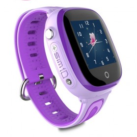 SKMEI Kids Monitoring Smartwatch LCD Screen with GPS + SOS Function - DF31G - Purple