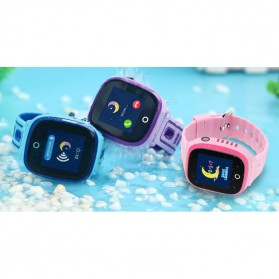 SKMEI Kids Monitoring Smartwatch LCD Screen with GPS + SOS Function - DF31G - Purple - 3
