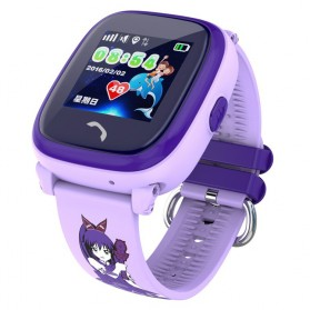 Gadget Media Player, Tablet , Smartphone, Power Bank, Laser Presenter - SKMEI Kids Monitoring Smartwatch LCD Screen with LBS + SOS Function - DF25 - Purple