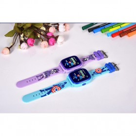 SKMEI Kids Monitoring Smartwatch LCD Screen with LBS + SOS Function - DF25 - Purple - 9