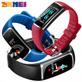 SKMEI Jam Tangan LED Gelang Fitness Tracker Heartrate Monitor - B32 - Black - 2