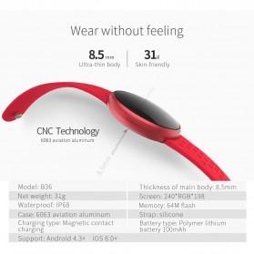 SKMEI Smartwatch Jam Tangan LED Heartrate Monitor - B36 - Pink - 8