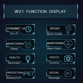 SKMEI Bozlun Smartwatch Galaxy Jam Tangan Heart Rate Multifunction - W31 - Black - 7