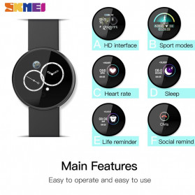 SKMEI Bozlun Smartwatch Jam Tangan LED Bluetooth Heartrate Monitor - B36M - Black - 6