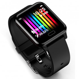 SKMEI Smartwatch Jam Tangan Pintar LED Bluetooth Heartrate Monitor - L8 - Black - 1