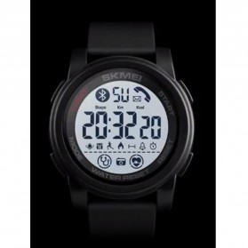 SKMEI Sport Smartwatch Jam Tangan Olahraga Heartrate Calorie - 1593 - Black White