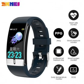 Gadget Media Player, Tablet , Smartphone, Power Bank, Laser Presenter - SKMEI Smartwatch Bracelet Sport Tracker Blood Pressure Heart Rate Thermometer - E66 - Black