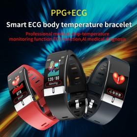 SKMEI Smartwatch Bracelet Sport Tracker Blood Pressure Heart Rate Thermometer - E66 - Black - 3