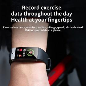 SKMEI Smartwatch Bracelet Sport Tracker Blood Pressure Heart Rate Thermometer - E66 - Black - 4